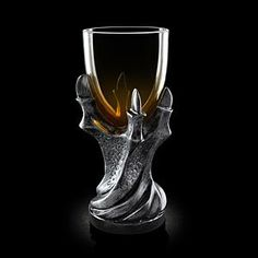 You don't have to know the story behind this <em>Game of Thrones</em> goblet to be impressed by it. With a resin stem shaped like a dragon's claws and a glass bowl, this chalice is perfect for hosting parties or for a quiet dinner alone pondering the fate