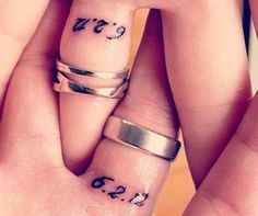 You can lose a ring, but you can never lose a tattoo. A tattoo is the ultimate sign of dedication. Plus these tattoos are so sweet, you might rethink your ring investment.