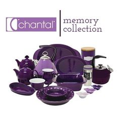Chantal MEMORY Collection charity is a new and special line of cookware that benefits the Alzheimer's Assc. If you are in the market for new kitchenware, give this a serious consideration. Purple Love, All Things Purple, Shades Of Purple, Purple Stuff, Purple Kitchen Accessories, Gris Violet, My Favorite Color, My Favorite Things, Purple Rooms