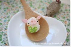 A bite pig onigiri