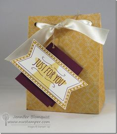 How to Make Your Own Gift Bags with the Gift Bag Punch Board Video Tutorial (Walkthrough Wednesday) Make Your Own, Make It Yourself, Stampin Up Catalog, Punch Board, Craft Box, Stamping Up, Craft Tutorials, Scrapbooking Layouts, Gift Bags