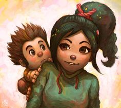 And you're Adorable! by Ry-Spirit.deviantart.com - Adult!Vanellope, and baby!Ralph.