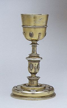 Chalice.17th century  Mexican,silver gilt and enamel