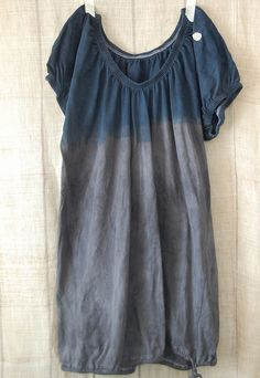 dip-dyed tunic. i've got to make one.