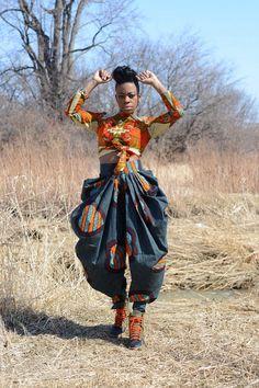 New Rahyma pleated harem pant African print pant by Rahyma on Etsy