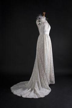 Robe de mariée broderie perlée