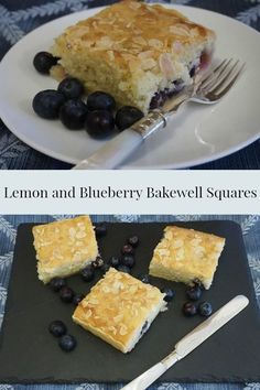 Lovely, light Lemon and Blueberry Bakewell Squares. A twist on a traditional British dessert, these are seriously easy to make!