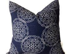 Pillows Navy Blue Pillows Throw Pillows Decorative by DEKOWE