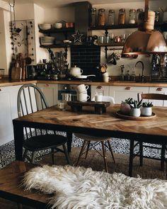Hygge For Home - Interior - Living - Inspiration . - Hygge For Home – Interior – Living – Inspiration - Apartment Kitchen, Kitchen Interior, Kitchen Decor, Cosy Apartment, Cosy Kitchen, Cosy Interior, Interior Logo, Interior Design, Küchen Design