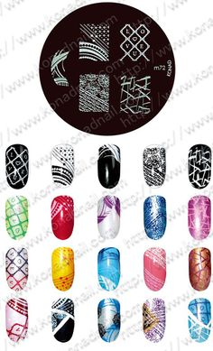 Konad stamp nail art