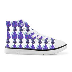 Luxury vint. Shoes / Blue abstract, white
