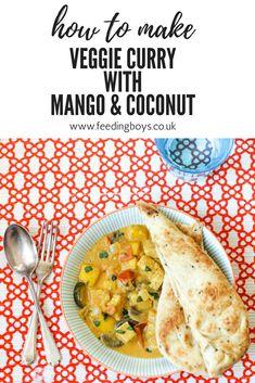 Veggie Curry with Mango and Coconut on feedingboys.co.uk