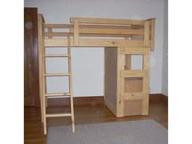Photo of Loft Bed L62 with Fruitwood Stain (no lacquer)
