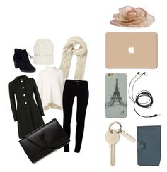 """""""Winter"""" by elle-dancer ❤ liked on Polyvore featuring Warehouse, URBAN ZEN, Miu Miu, J Brand, Yves Saint Laurent, Clarks and Eugenia Kim"""
