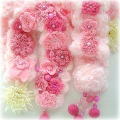 多姿多彩的立体钩花(1) - 木棉花 - 雨茫茫,雾茫茫,盼望花开,花已落……