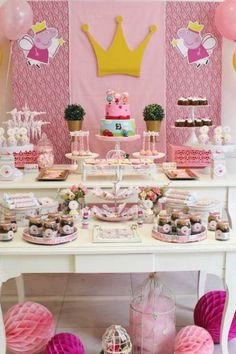 Violeta Glace 's Birthday / Peppa Pig - Photo Gallery at Catch My Party Birthday Surprise For Mom, Guys 21st Birthday, 21st Birthday Cakes, Birthday Party Tables, Birthday Gifts For Teens, Pig Birthday, Birthday Ideas, Happy Birthday, Aniversario Peppa Pig