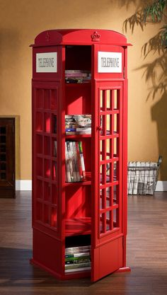 Phone Booth Cabinet. Looking for space to place this cute guy we have plenty of space for a nice storage shelf like this. #1303