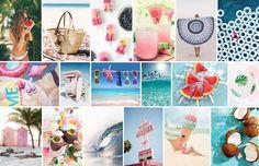 Hello Summer ! L'été est là et pour les plus chanceux, les vacances aussi ! Je… Mood Boards, Summer Time, Table Decorations, Spring, Inspiration, Vacation, Daylight Savings Time, Biblical Inspiration, Summer