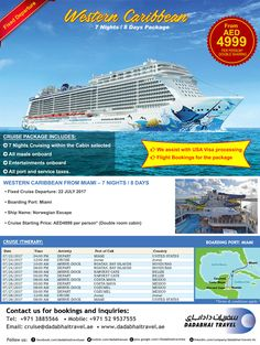 Western Caribbean Cruise for 7 Nights Package Fixed Departure