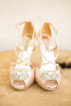 Blush shoes with a little glam: http://www.stylemepretty.com/california-weddings/silverado/2015/04/24/romantic-rancho-las-lomas-summer-wedding/ | Photography: Studio EMP - http://studioemp.com/
