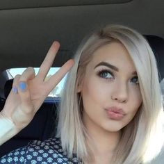 Image result for ash blonde long bob
