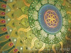 """Gaia"" mandala detail  Sunmandalas by Je- 2018 (C) ( Seed of Life, Universe, Life, Sun, Spiral energy, New life, Nature, Earth) http://www.sunmandalas.webnode.hu"