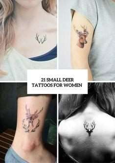 21 Small Deer Tattoo Ideas For Girls