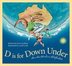 D is for Down Under - Book Review Kindergarten Social Studies, Teaching Social Studies, Teaching Art, Teaching Geography, World Geography, Australian Animals, Australian Art, Around The World Theme, Virtual Field Trips