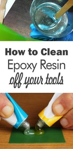 How To Clean Your Tools With Epoxy Resin - 101 Day Organization Cleaning, cl . - Epoxy ideas - The Epoxy Epoxy Resin Table, Epoxy Resin Art, Diy Epoxy, Uv Resin, Resin Molds, Resin Spray, Resin Glue, Diy Resin Art, Diy Resin Crafts