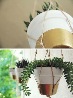 DIY Painted Terra Cotta Pots. These would be cute on the upstairs balcony