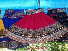 Ghagra choli fashion trend navratri 2014 - bold colours ghagra