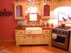 Dollhouse Miniature Furniture - Tutorials | 1 inch minis: KITCHEN CABINETS - How to make contemporary kitchen cabinets from mat board.