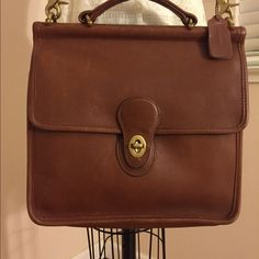 Coach Shoulder Bag Coach Shoulder Bag with Top Handle, camel color. Some scratches and fading but overall high quality leather. Very cute! Coach Bags Shoulder Bags