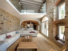 Modern Addition To Historic House By Gloria Duran Interiorzine - The Combination Of Old Stone Constructs Wood And Water Together With Fresh Modern Insertions Like Glass Partitions Functional Appliances And Furnishing Makes This Romantic Old House Built In