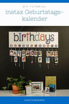 DIY: instax Geburtstagskalender instax DIY: Make an instax birthday calendar with us. Preschool Birthday, Classroom Birthday, Birthday Wall, Birthday Board, Preschool Classroom, Classroom Themes, Classroom Activities, Birthday Calendar Board, Class Birthdays