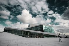 Oslo's Opera House in Norway. I can't get enough of the modern architectural design.