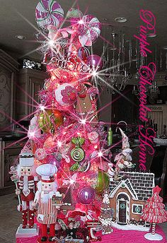 kitchen tree with gingerbread men and cupcakes.
