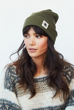 winter is coming... Free People Compass Cuff Beanie at Free People Clothing Boutique