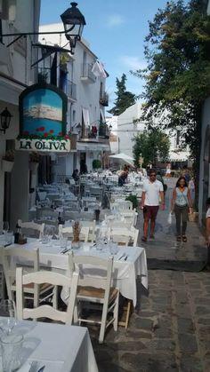 A restaurant in Dalt Vila