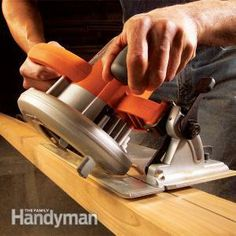 """Making Circular Saw Cuts From cutting wide baseboard to framing a roof, these techniques make angle cuts easy and accurate. Circular saws can do more than just rough framing. With the techniques in this article you can make perfect angle, miter and even compound miter cuts."""