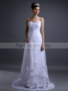 Earthy Whimsical wedding dress available in white or by CiCiBridal, $625.00