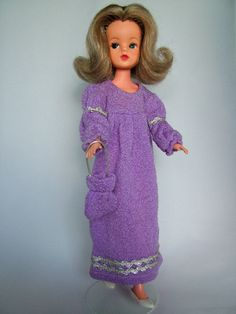1972 Sindy - Our Sindy Museum Crochet Barbie Clothes, Doll Clothes, Vintage Barbie, Vintage Dolls, Sindy Doll, Fur Wrap, Night Outfits, Cool Style, Sewing Patterns