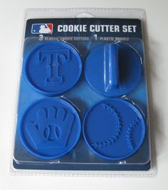 Amazon.com: MLB Texas Rangers Officially Licensed Set of Cookie Cutters: Home & Kitchen