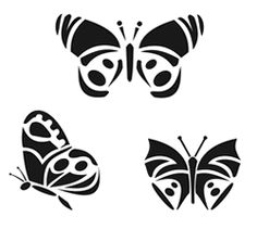Butterfly Stencil Mix 1