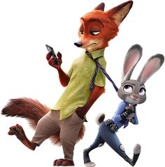 Nick Wilde and Judy Hopps | Disney's Zootopia