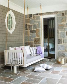 "georgianadesign: ""Designer Amy Morris decor in a Sandy Springs residence. Erica George Dines photo in Atlanta Homes & Lifestyles. Outdoor Rooms, Outdoor Living, Outdoor Furniture, Deck With Pergola, Diy Pergola, Patio Roof, Pergola Ideas, Porch Ideas, Pergola Cover"