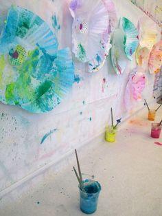 Fluttery Flower Wall  |  small hands big art