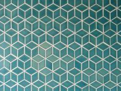 Heath ceramics,, Little Diamond Tropics blue … Ceramic Floor Tiles, Tile Floor, Heath Ceramics Tile, Interior Styling, Interior Design, Master Bedroom Bathroom, Patterned Carpet, Bath Design, Home Remodeling