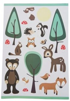 Wandgestaltung im Kinderzimmer mit Wandsticker Wald von sebra