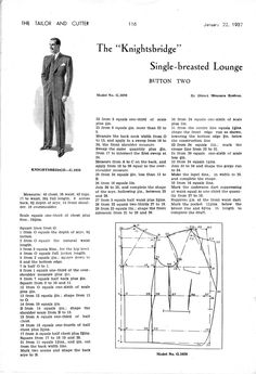 single-breasted lounge